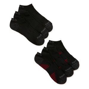 New Reebok Men's Low Cut Socks, 6 Pack